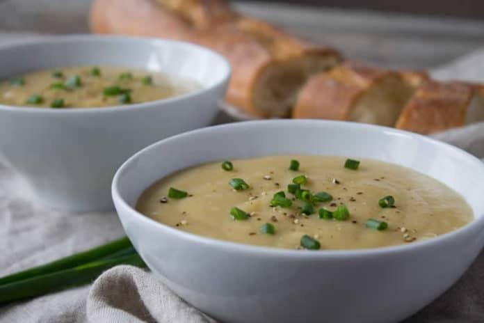 Soupe de poireaux et pomme de terre au cookeo