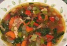 Soupe d'haricots blancs et légumes au cookeo