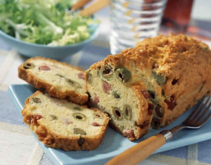 Cake aux olives et jambon au thermomix