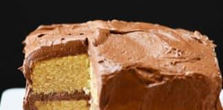 Gateau vanille chocolat noir