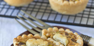 Mini tartes aux pistache et miel