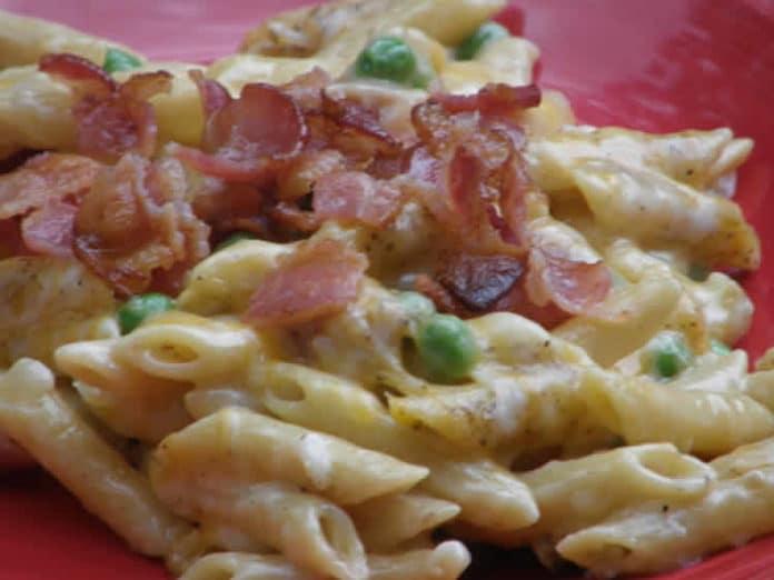 Pâtes fromage et bacon au cookeo
