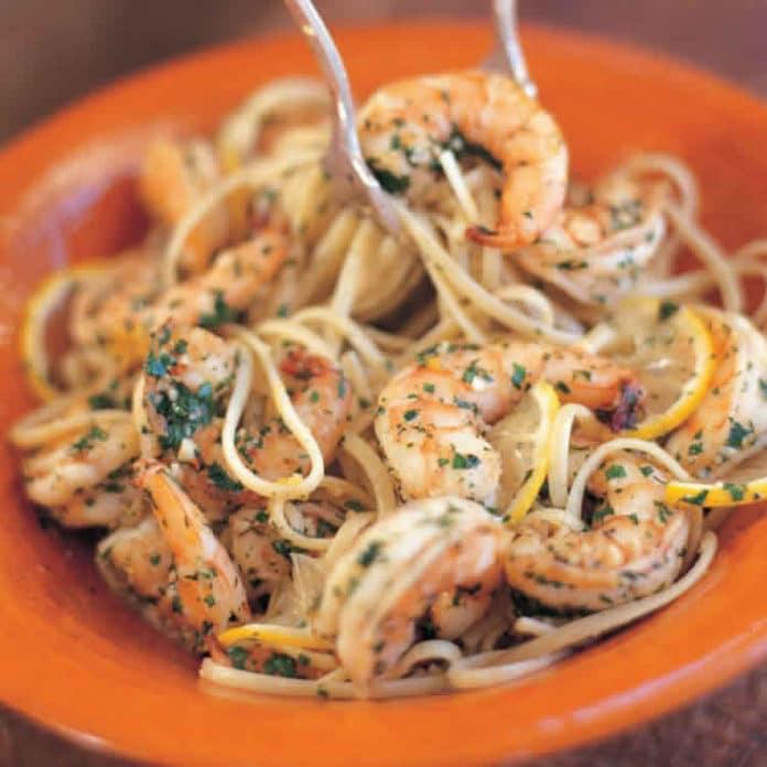 Pâtes linguine aux crevettes