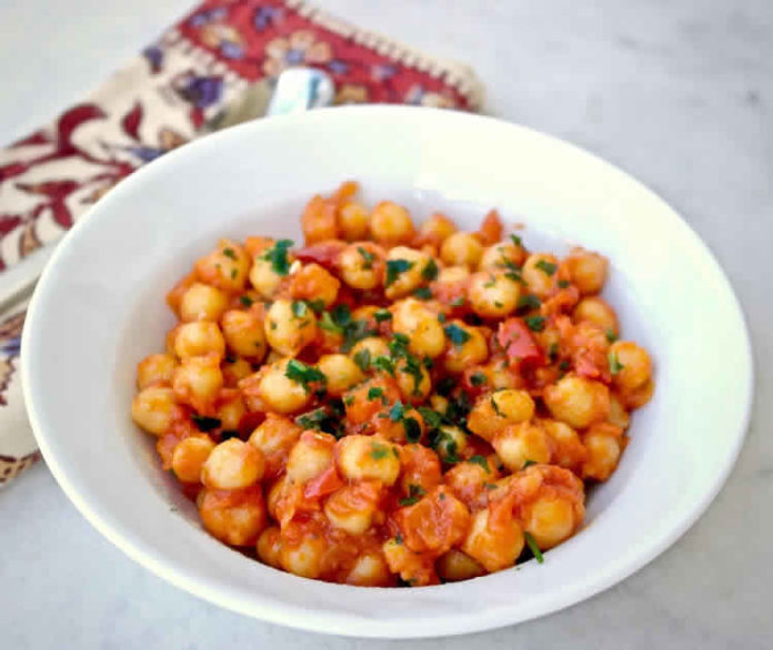 Pois chiches en sauce tomate au cookeo