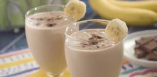Smoothie banane chocolat et café