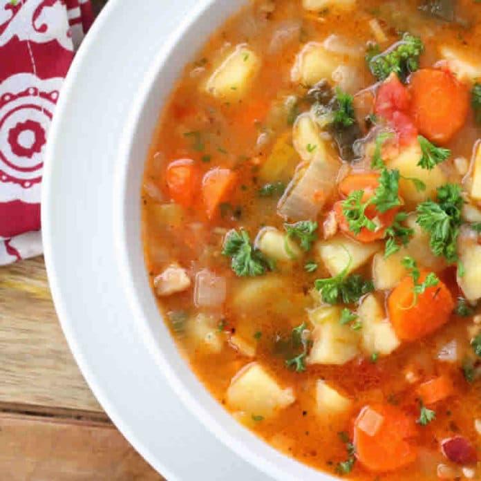 Soupe aux légumes d'hiver au cookeo