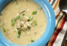Soupe chou-fleur et champignon au thermomix