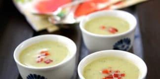 Soupe courgette et lait amande au thermomix