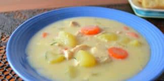 Soupe de légumes au poulet au thermomix