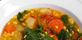 Soupe lentilles et légumes