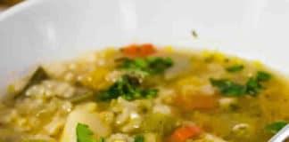 Soupe riz carottes poireaux