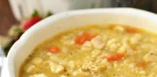 Bouillon de poulet et riz au cookeo