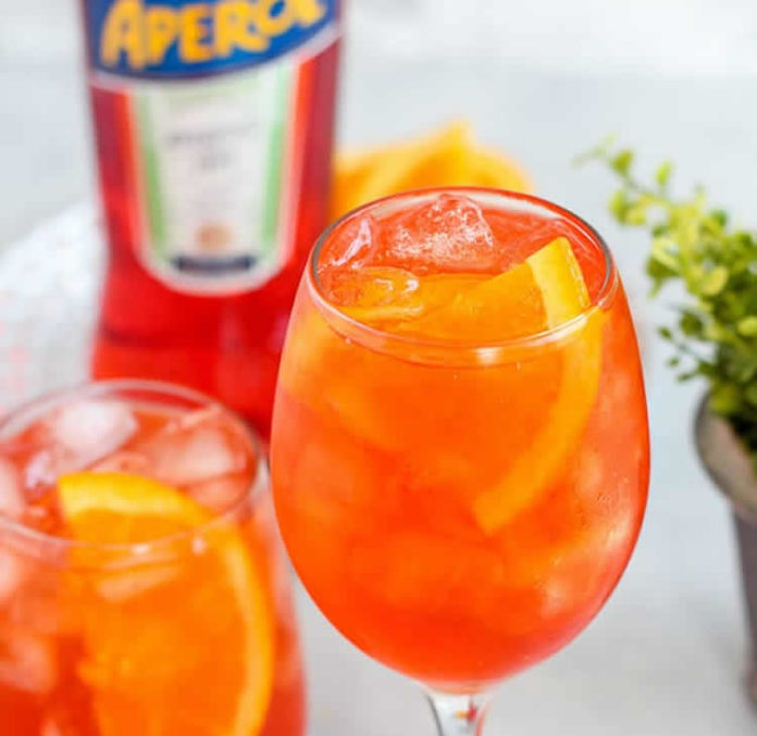 Cocktail Aperol spritz au thermomix