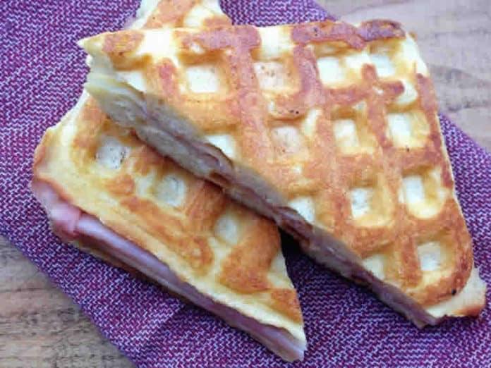 Gaufres au jambon et mozzarella au thermomix