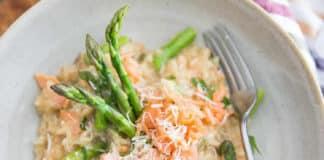 Risotto au saumon et asperges au cookeo