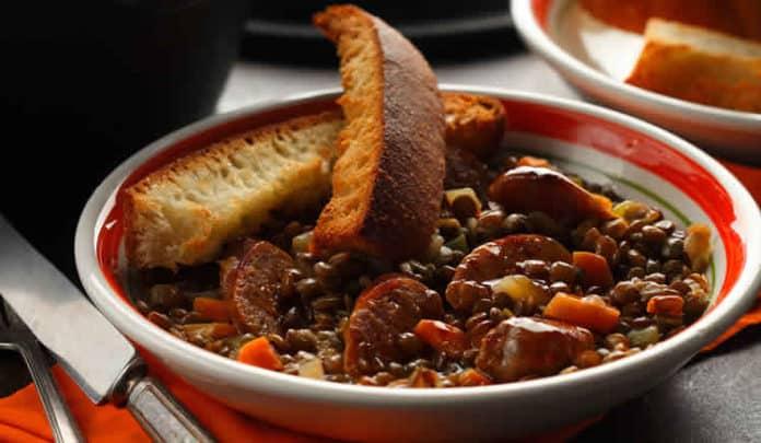 Saucisses aux lentilles et carottes au cookeo
