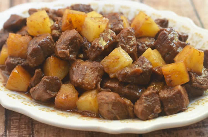 Sauté de porc à l'ananas au cookeo
