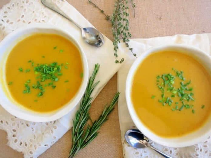 Soupe butternut lait de coco et curry au thermomix
