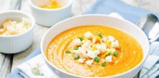 Soupe choux fleurs et patate douce au thermomix