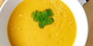Soupe de carottes lait de coco au cookeo