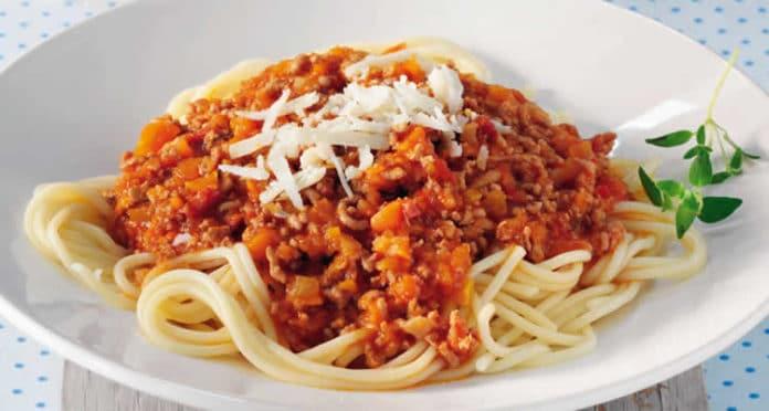 Spaghetti à la bolognaise et parmesan au thermomix