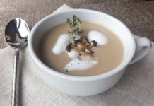 Velouté champignons à la crème au thermomix