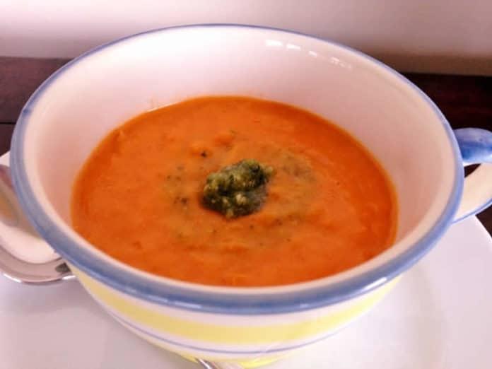 Velouté tomates poireaux au thermomix