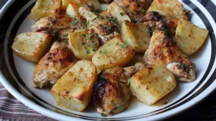 aiguillettes de poulet et pommes de terre au cookeo