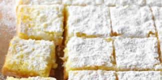carrés au citron et amandes