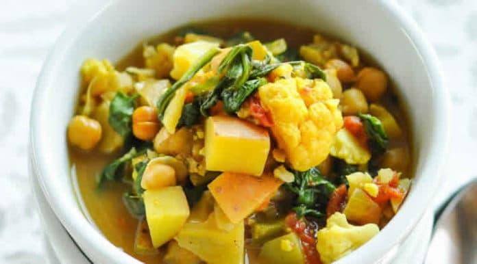 soupe aux légumes et pois chiches au cookeo
