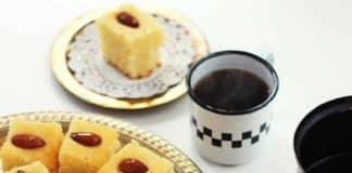 Basboussa - gâteau de semoule au sirop