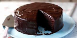 Cake cacao et glaçage au chocolat