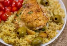Poulet aux olives et oignon au thermomix