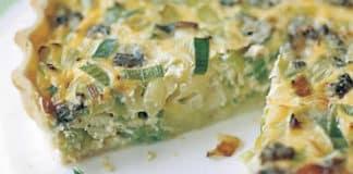 Tarte aux poireaux et fromage au thermomix