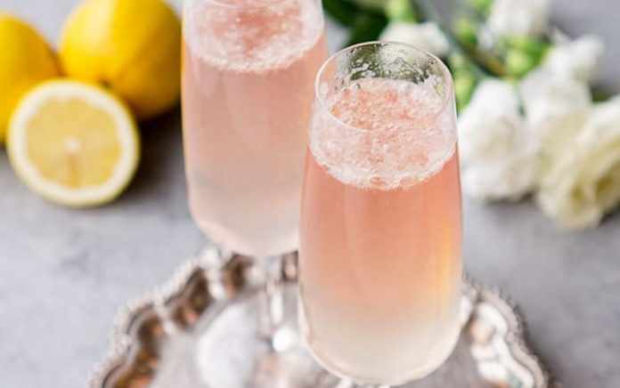 cocktail champagne citron au thermomix