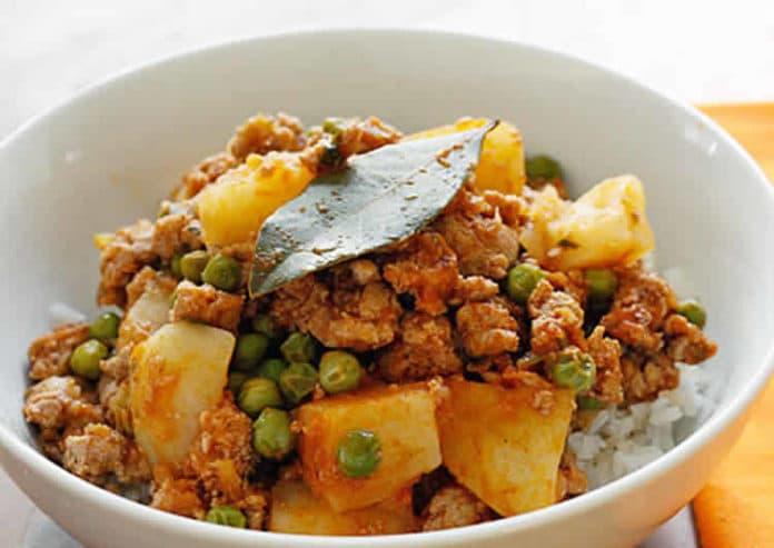 viande hachée et pois au cookeo