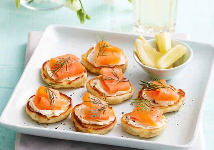 recette blinis au saumon ww
