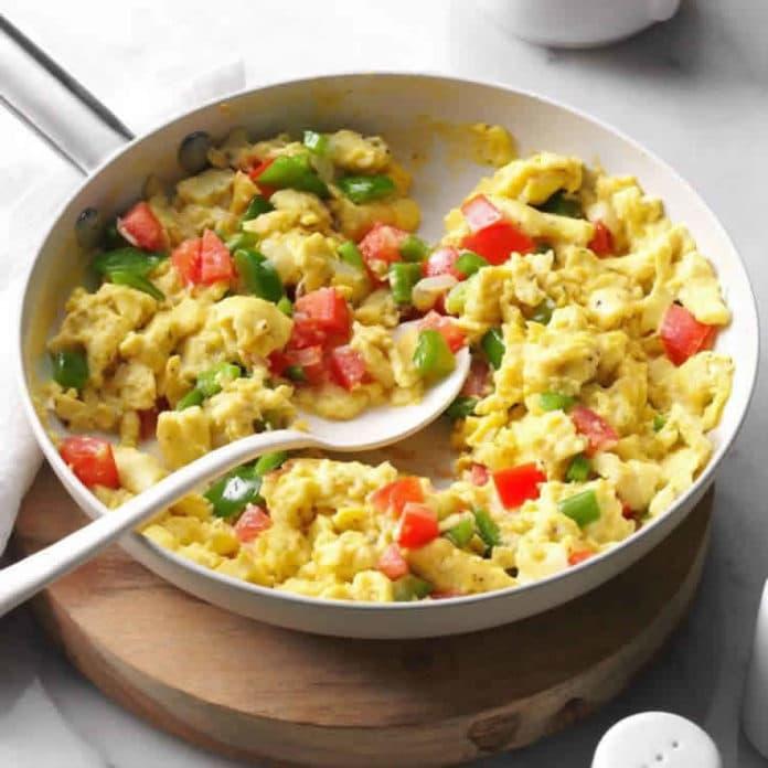Recette omelette aux légumes ww