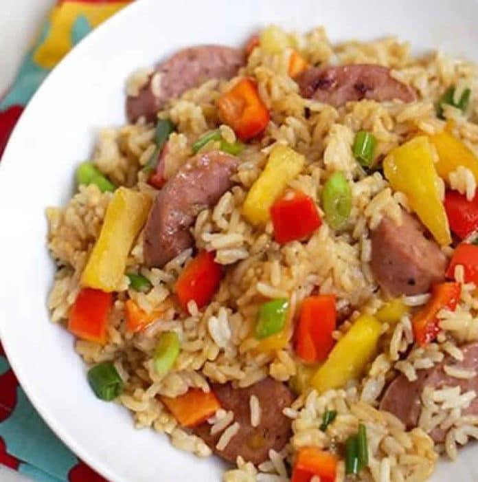 Recette riz frit à l'ananas ww