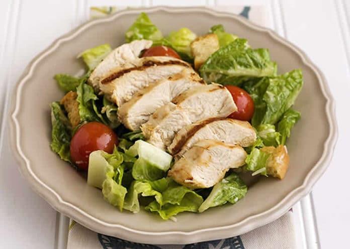 Recette salade césar au poulet ww
