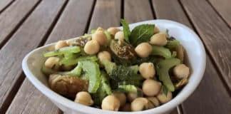 Recette salade végétarienne de pois chiche ww