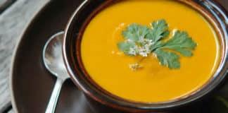 Recette soupe carottes et curry ww