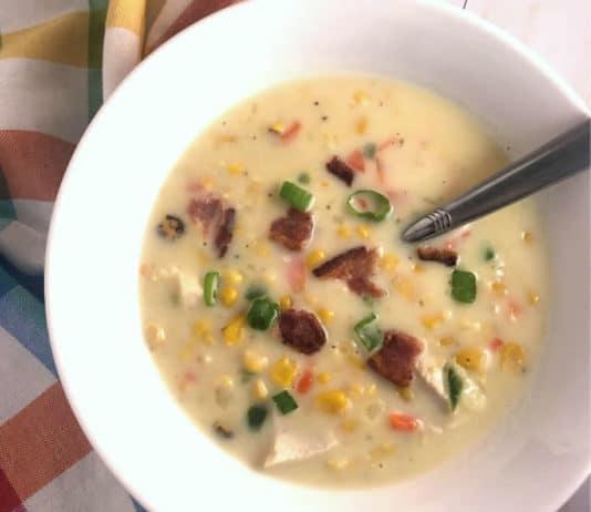 Recette soupe poulet et maïs ww