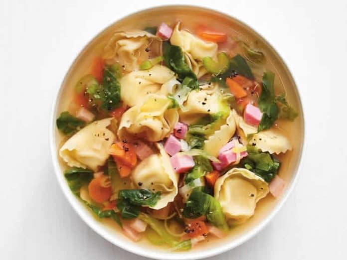 Recette soupe tortellinis ww