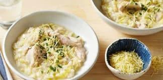 Risotto au poulet et poireaux au cookeo