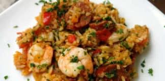 riz crevettes et chorizo au cookeo