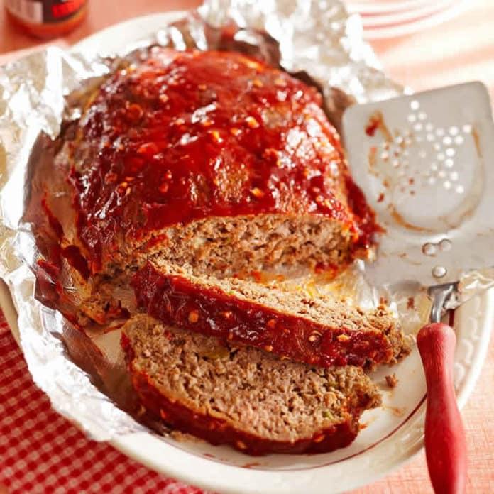 Pain de viande hachée au ketchup