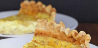 Quiche 3 fromages et oignon au thermomix