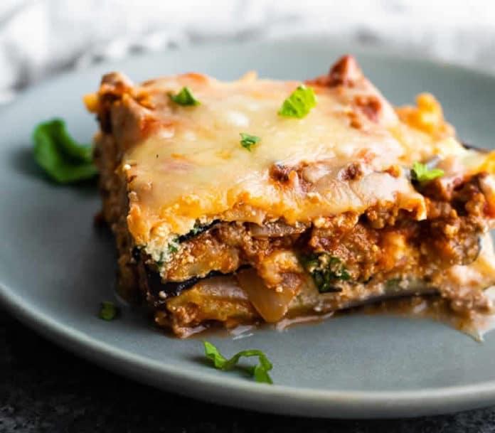 Recette lasagnes aux aubergines ww