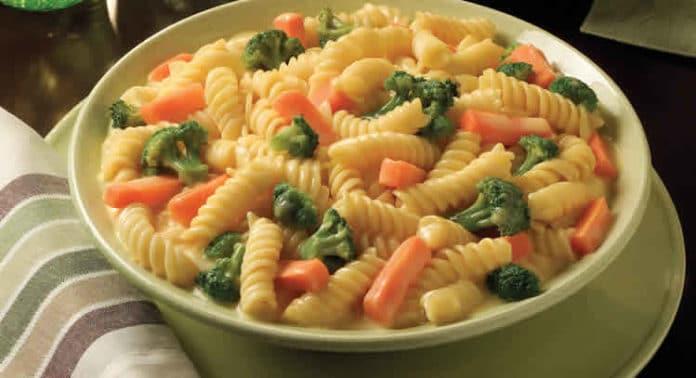 Recette pâtes aux légumes ww